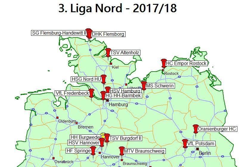 Die Staffeleinteilung Der 3 Liga Wurde Festgelegt Dhk Flensborg